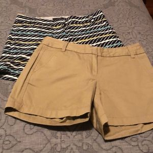 "JCrew 5"" chino shorts (2 pairs)"